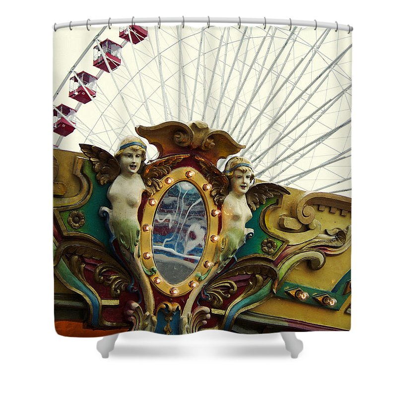 Navy Pier Shower Curtain featuring the photograph Pier Park Chicago by Kyle Hanson