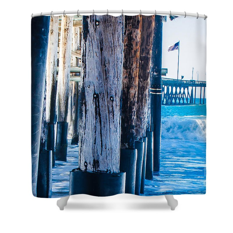 Pier Shower Curtain featuring the photograph Pier Ventura Ca by Kevin Eckert Smith