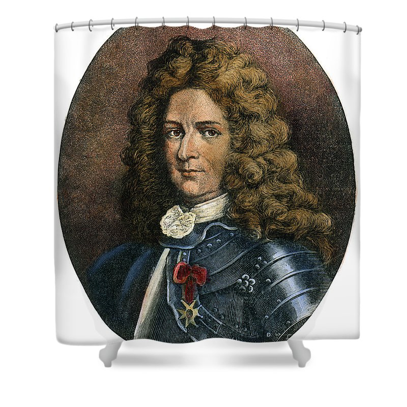 Colonist Shower Curtain featuring the drawing Pierre Lemoyne, 1661-1706 by Granger