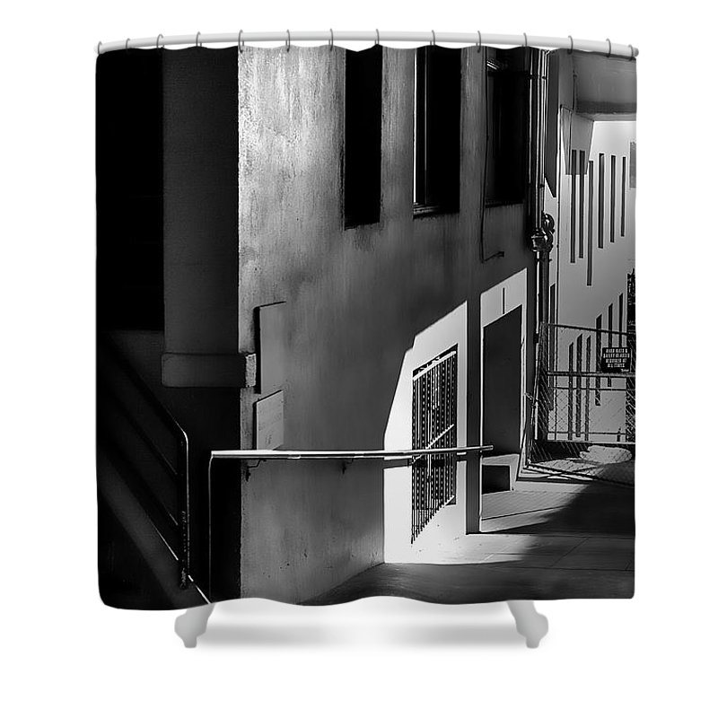 Pike Place Market Shower Curtain featuring the photograph Pike Place Corridor by David Patterson
