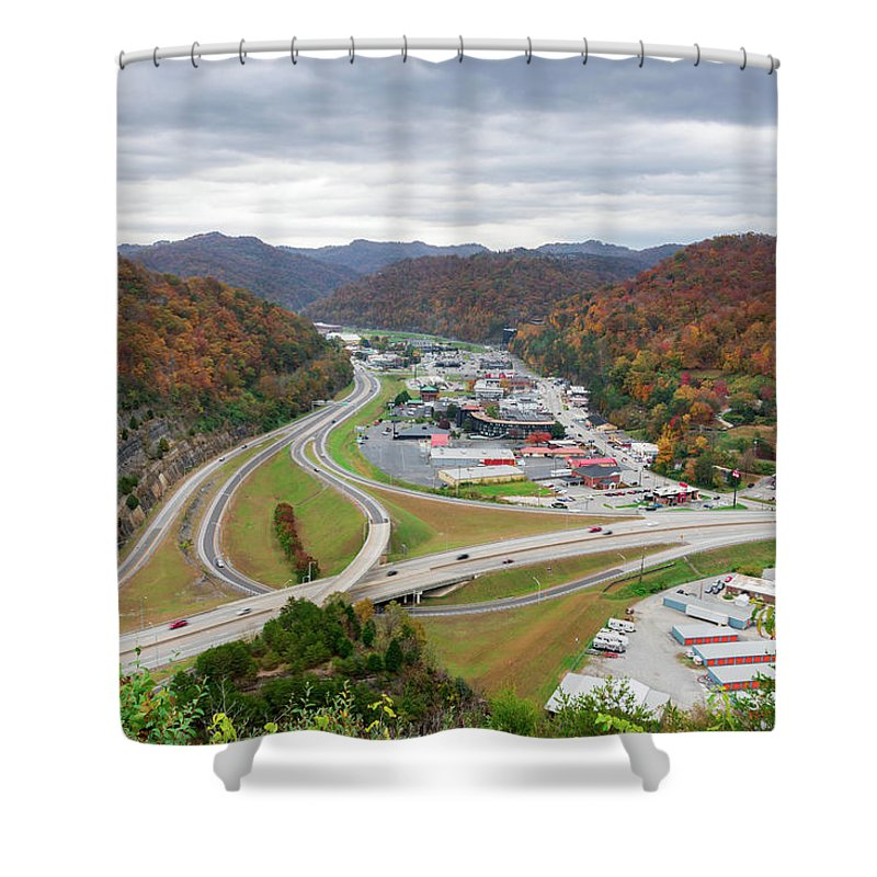 Fall Shower Curtain featuring the photograph Pikeville Cut-through by Cris Ritchie