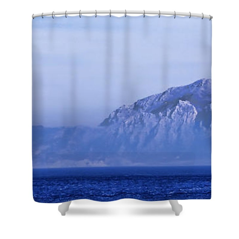 Atlas Mountains Shower Curtain featuring the photograph Pilars Of Hercules by Donovan Torres