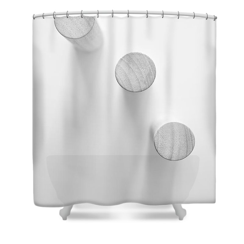 Minimal Shower Curtain featuring the photograph Pillars by Scott Norris
