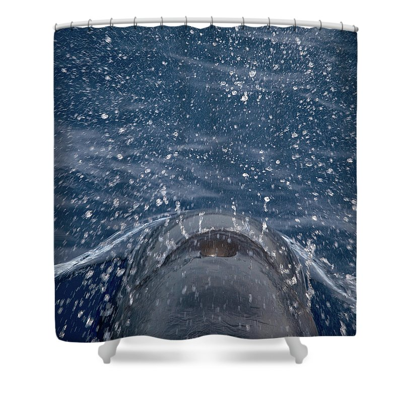 Valasretki Shower Curtain featuring the photograph Pilot Whale 7 The Breath by Jouko Lehto