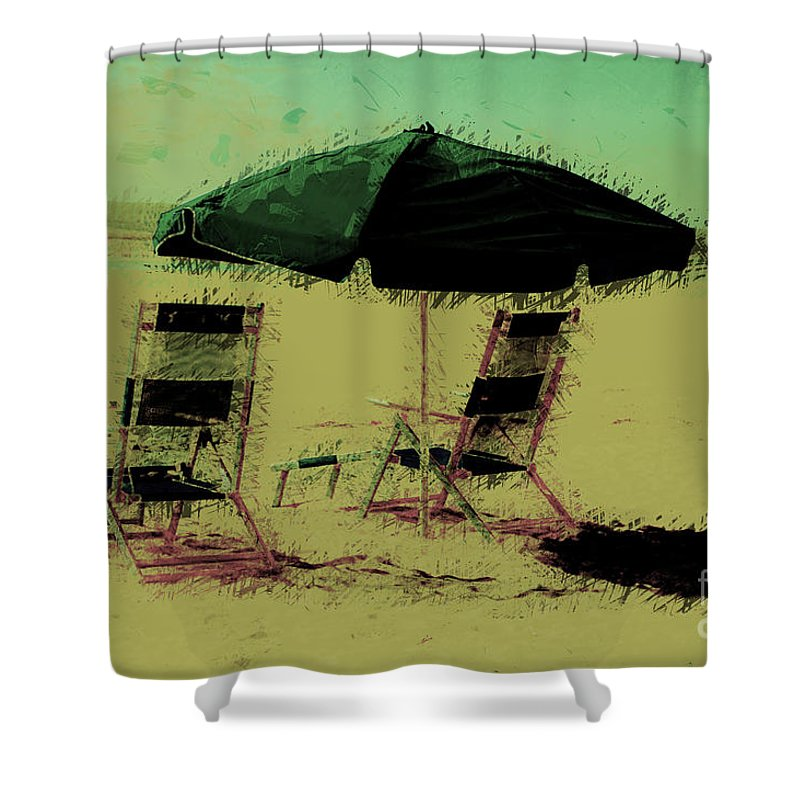 Beach Shower Curtain featuring the photograph Pina Colada Anyone by Donna Bentley