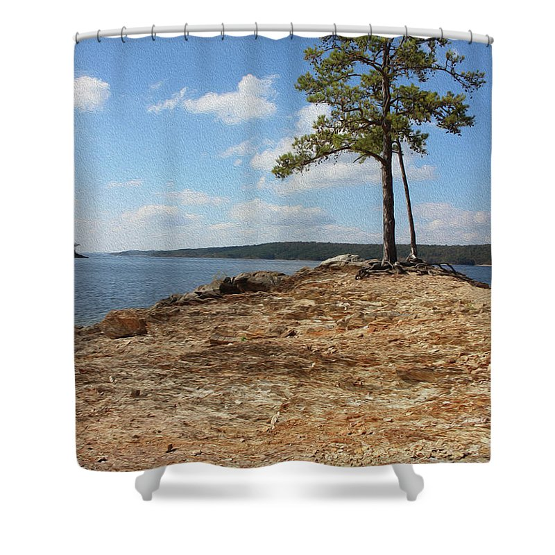 Outdoor Images Shower Curtain featuring the photograph Pine Perch by Felipe Gomez