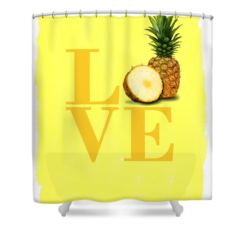 Pineapple Photographs Shower Curtains