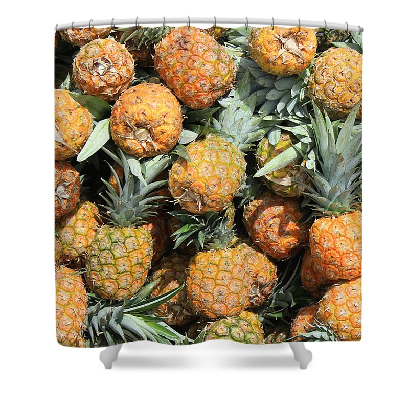 Pineapple Shower Curtain featuring the photograph Pineapples by Robert Hamm