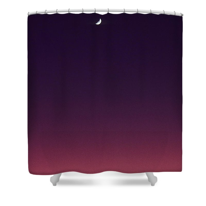 Above Shower Curtain featuring the photograph Pink And Purple Sunset by Carl Shaneff - Printscapes