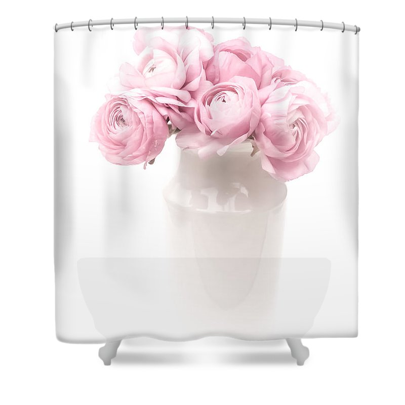 High Contrast Shower Curtain featuring the photograph Pink Bouquet by Susan Westervelt