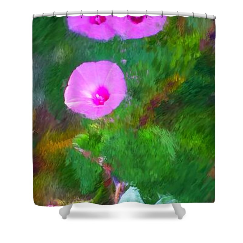 Floral Shower Curtain featuring the photograph Pink Flowers 102310 by David Lane
