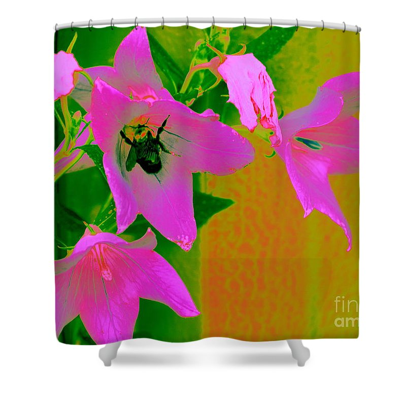 Pin Shower Curtain featuring the photograph Pink Flowers by Anita Goel