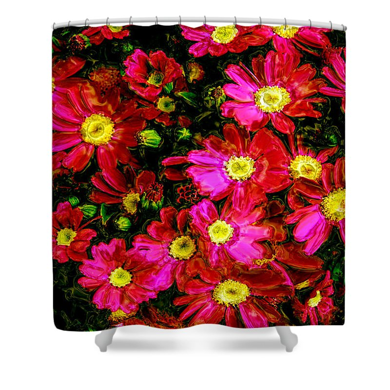 Flower Shower Curtain featuring the photograph Pink Friends by Phill Petrovic