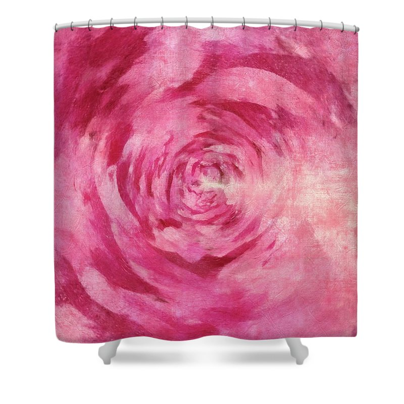 Flowers Shower Curtain featuring the painting Pink Lady 1 by Jamie Holbrook