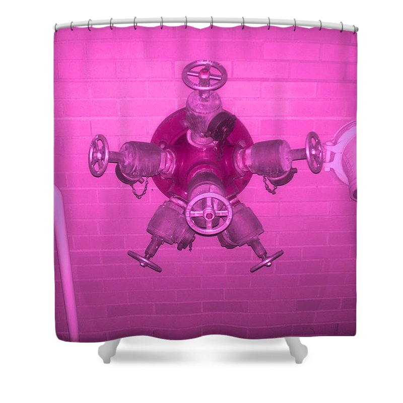 Photograph Shower Curtain featuring the photograph Pink Male Pipe by Thomas Valentine