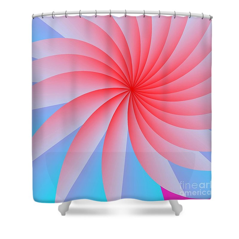 Abstract Shower Curtain Featuring The Digital Art Pink Passion Flower By Michael Skinner