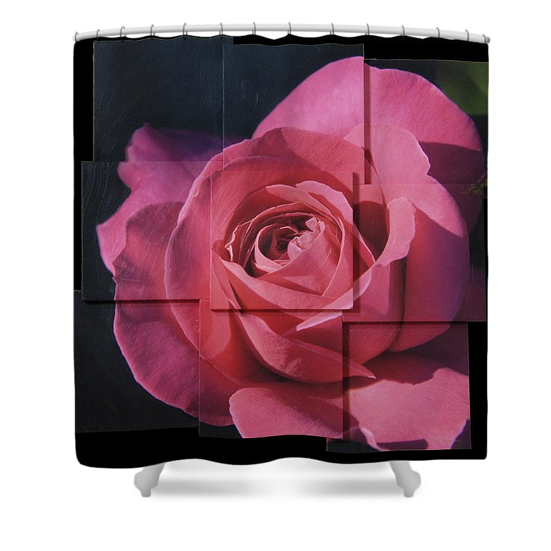 Rose Shower Curtain featuring the sculpture Pink Rose Photo Sculpture by Michael Bessler