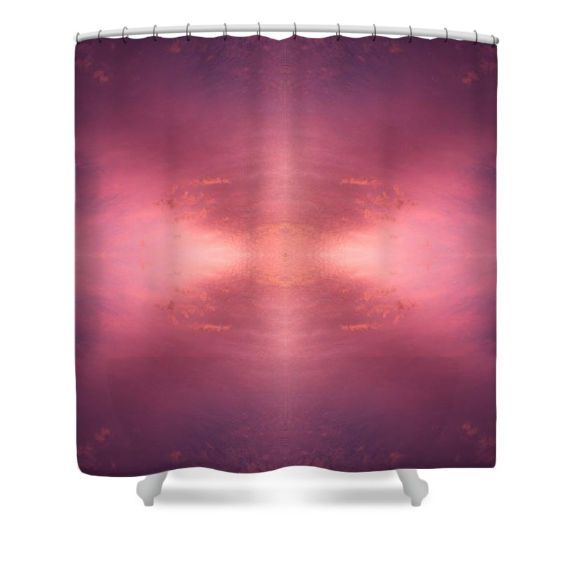 Sunset Shower Curtain featuring the photograph Pink Universe by Kevin Cote