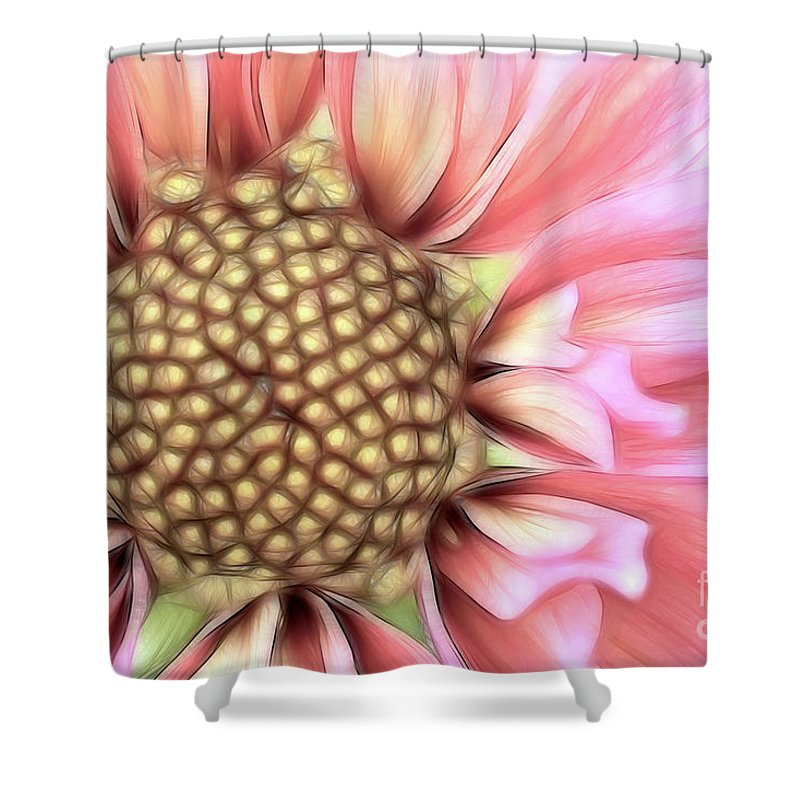 Dahlia Shower Curtain featuring the photograph Pinkie by Beve Brown-Clark Photography