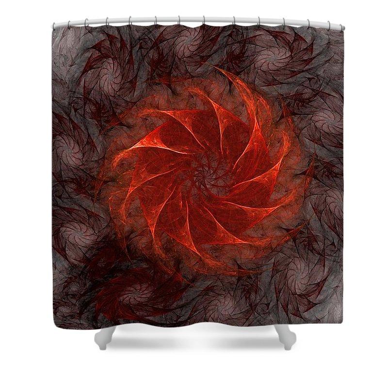 Fantasy Shower Curtain featuring the digital art Pinwheel by David Lane