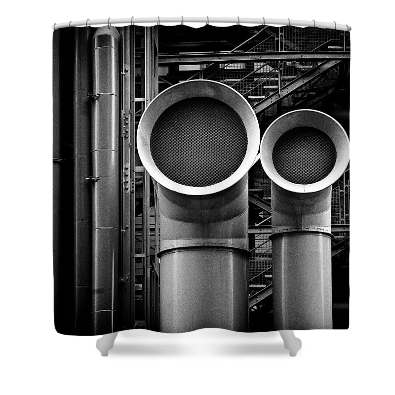 Industry Shower Curtain featuring the photograph Pipes by Dave Bowman
