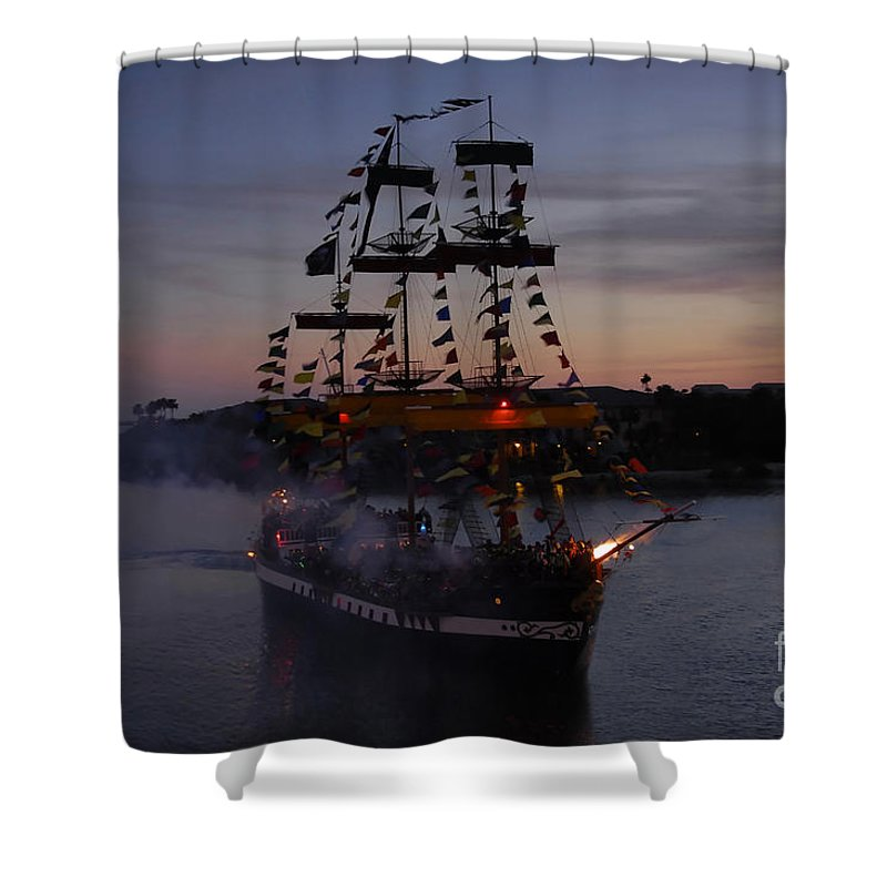 Pirates Shower Curtain featuring the photograph Pirate Invasion by David Lee Thompson