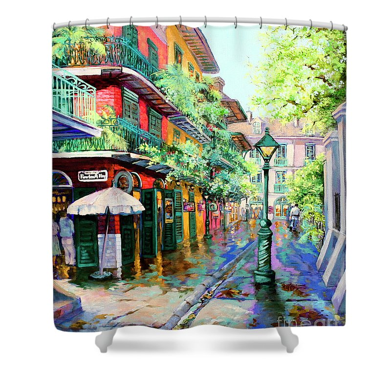New Orleans Art Shower Curtain featuring the painting Pirates Alley - French Quarter Alley by Dianne Parks
