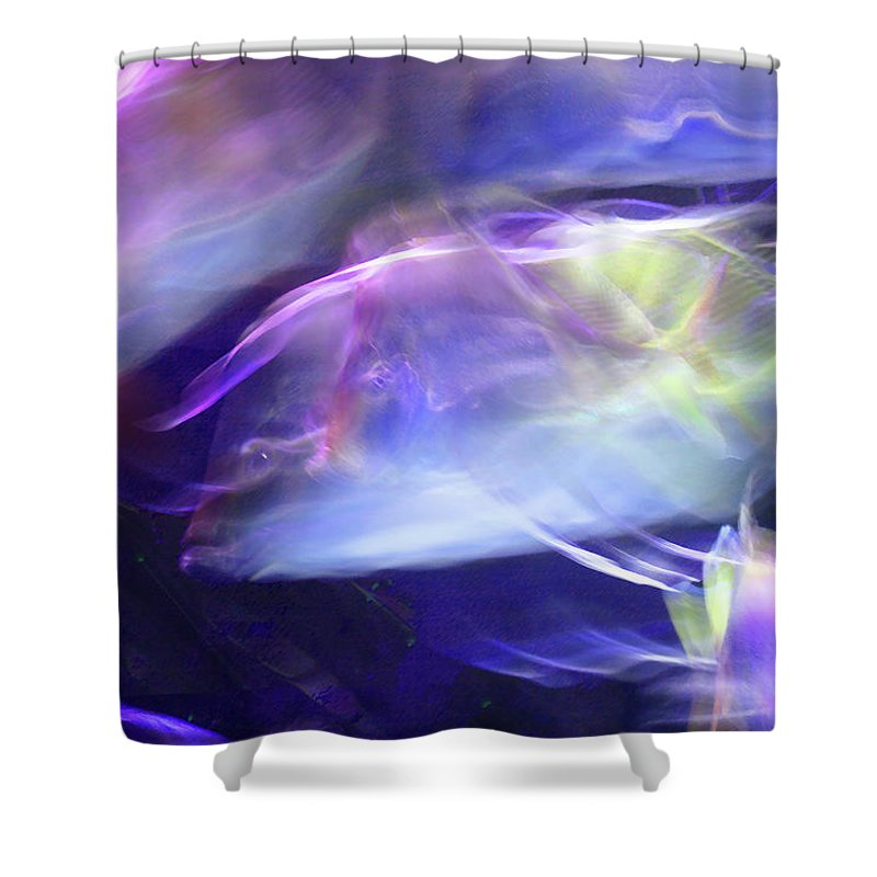 Abstract Shower Curtain featuring the photograph Pisces by Steve Karol