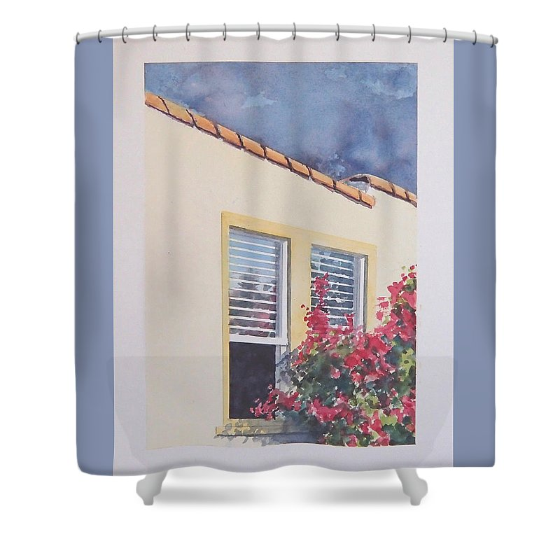 Cottage Shower Curtain featuring the painting Pismo Cottage by Philip Fleischer