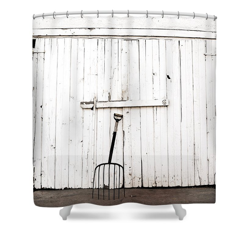 Americana Shower Curtain featuring the photograph Pitch Fork by Marilyn Hunt