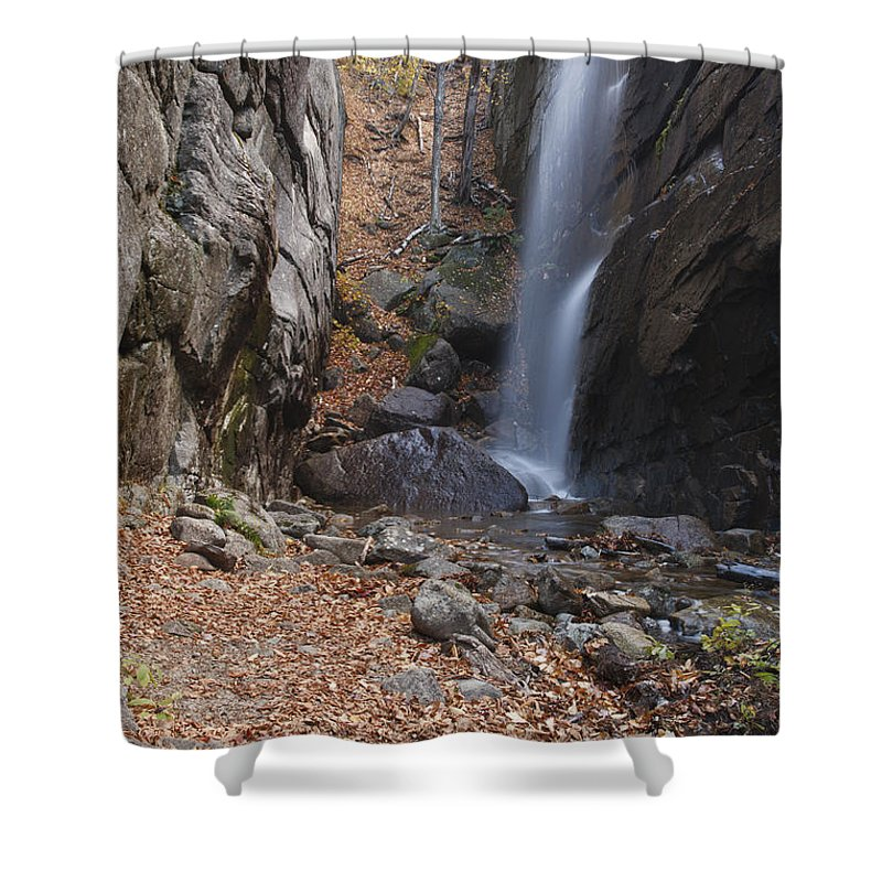 Waterfall Shower Curtain featuring the photograph Pitcher Falls - White Mountains New Hampshire by Erin Paul Donovan
