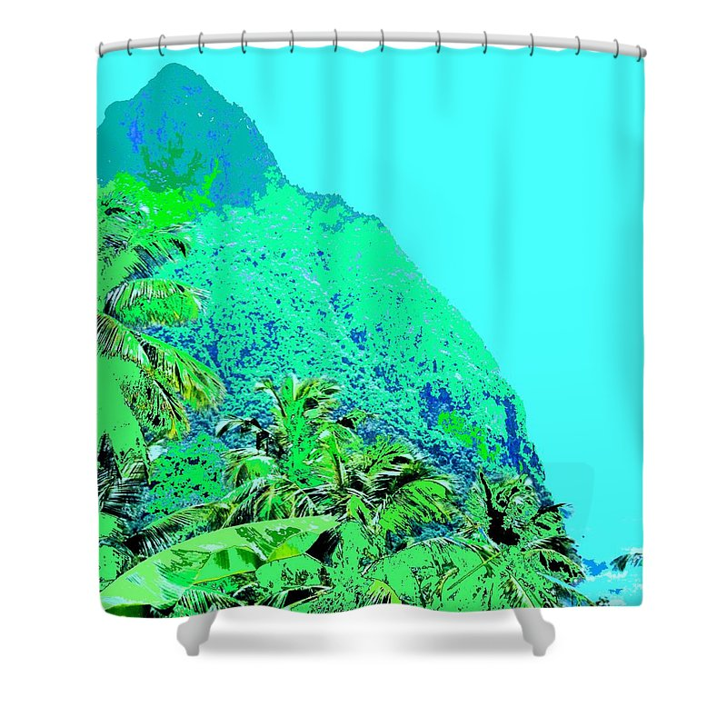 Pitons Shower Curtain featuring the photograph Pitons by Ian MacDonald