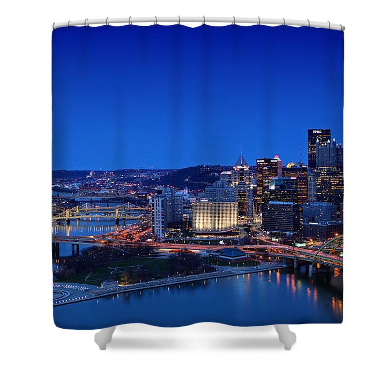 Pittsburgh Shower Curtain featuring the photograph Pittsburgh by Kevin D Haley