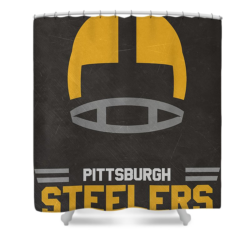 Steelers Shower Curtain Featuring The Mixed Media Pittsburgh Vintage Art By Joe Hamilton