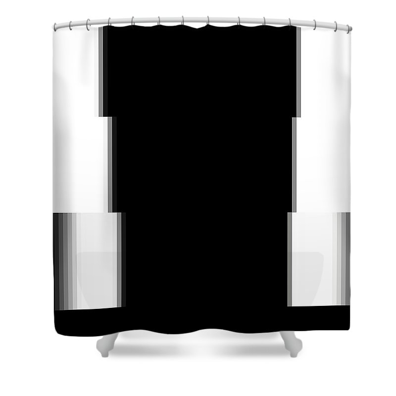 Bob Wall Shower Curtain featuring the digital art Pixels by Bob Wall