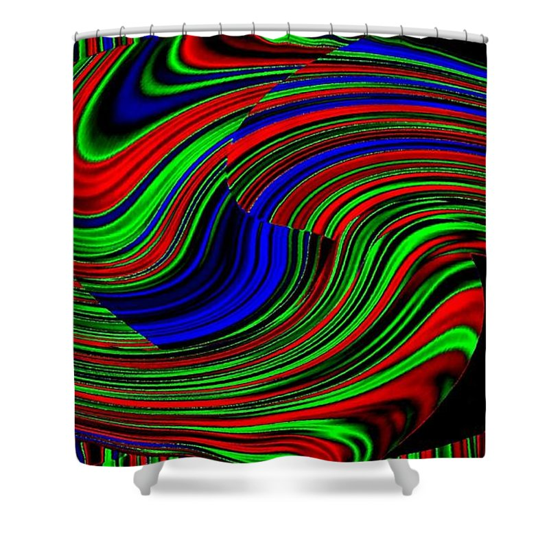 Abstract Shower Curtain featuring the digital art Pizzazz 18 by Will Borden