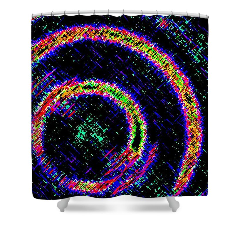 Abstract Shower Curtain featuring the digital art Pizzazz 2 by Will Borden