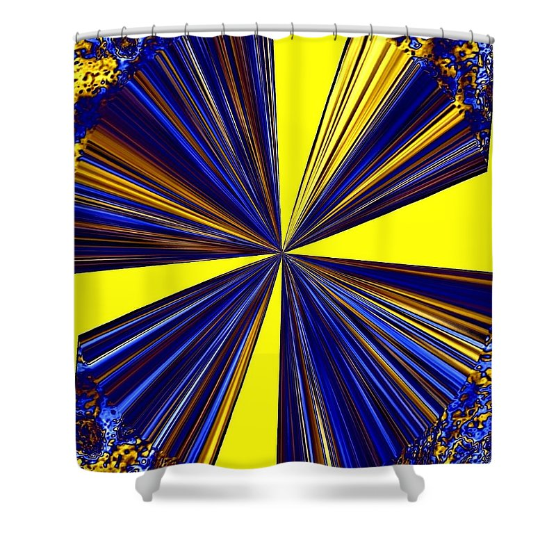 Abstract Shower Curtain featuring the digital art Pizzazz 20 by Will Borden