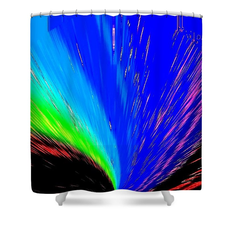Abstract Shower Curtain featuring the digital art Pizzazz 3 by Will Borden