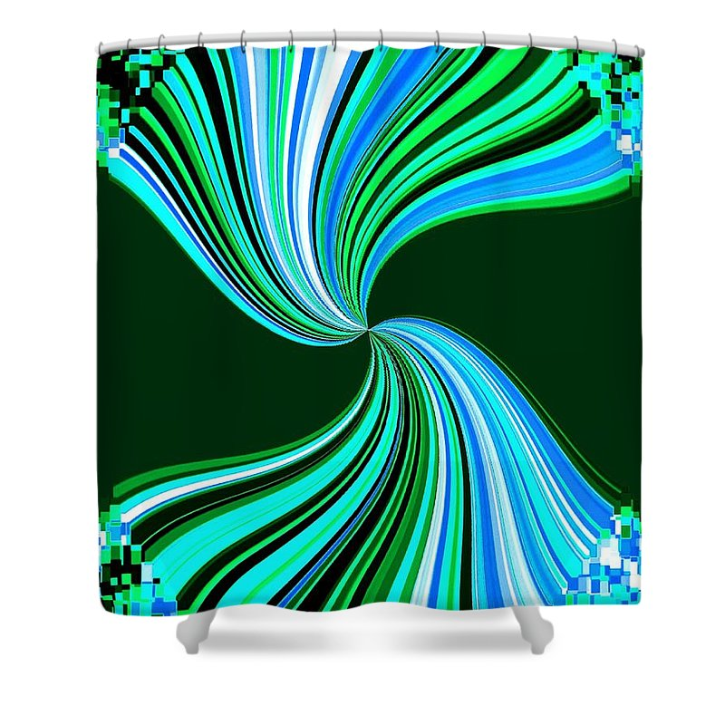 Abstract Shower Curtain featuring the digital art Pizzazz 33 by Will Borden