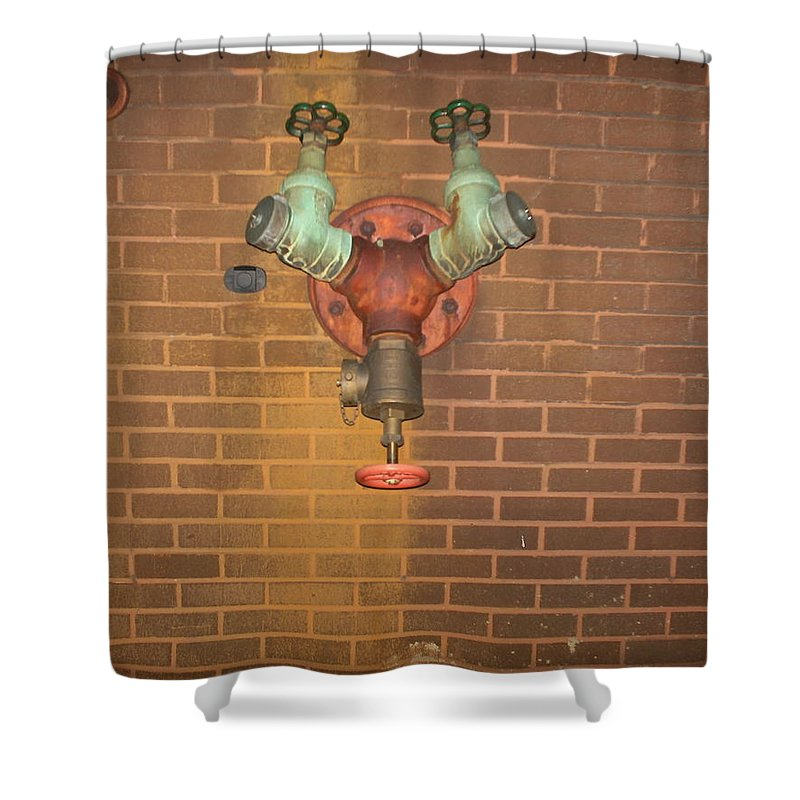 Photograph Shower Curtain featuring the photograph Plain All Alone Pipe by Thomas Valentine