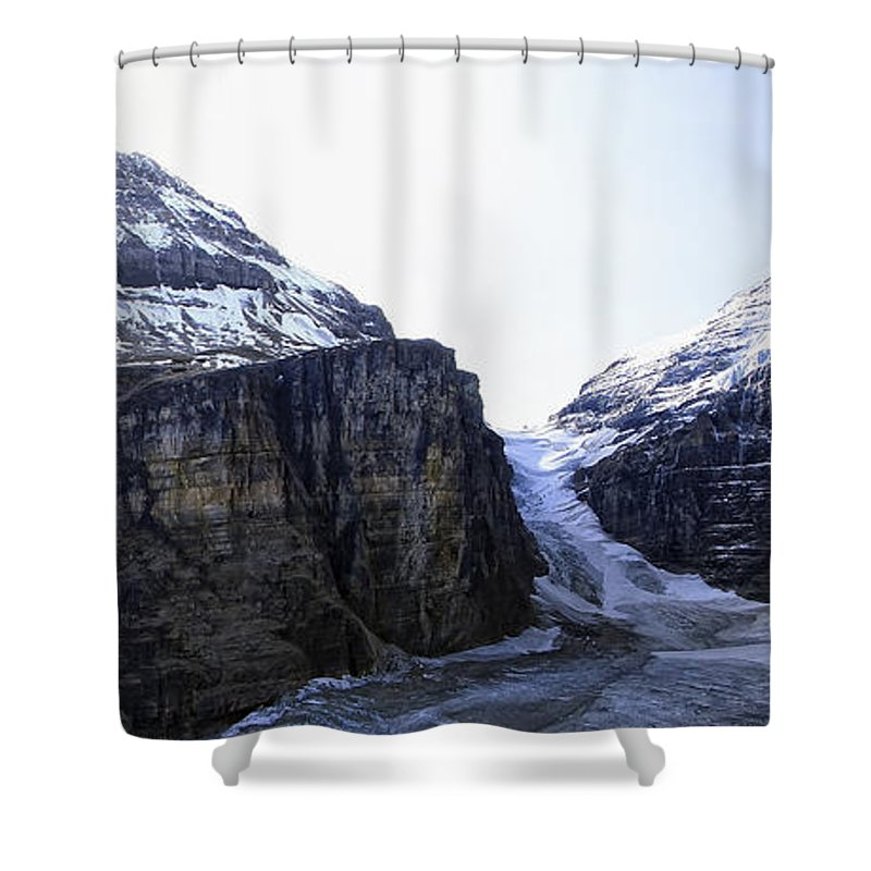 lake Louise Shower Curtain featuring the photograph Plain Of Six Glaciers Trail Terminus -- Canada by Daniel Hagerman