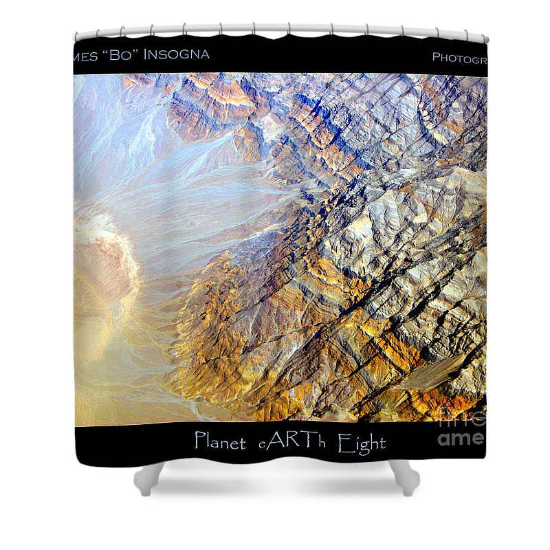 Aerial Shower Curtain featuring the photograph Planet Earth Eight by James BO Insogna