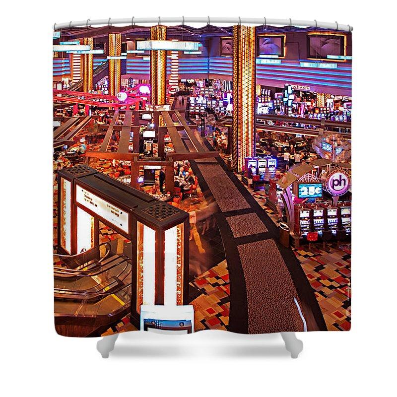 Planet Hollywood Casino Shower Curtain featuring the photograph Planet Hollywood Casino by Christian Hallweger