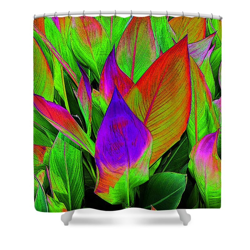 Art Shower Curtain featuring the painting Plant Details by David Lee Thompson