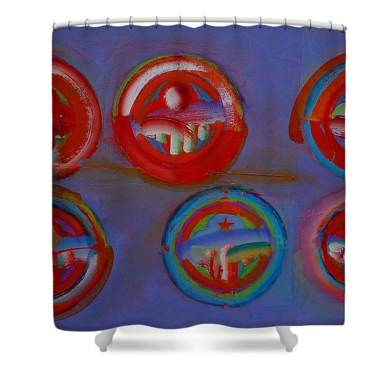 Logo Shower Curtain featuring the painting Plate State by Charles Stuart