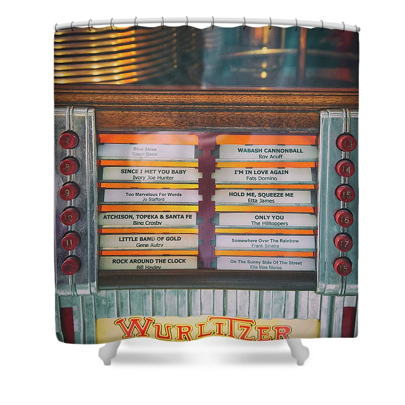 Wurlitzer Shower Curtain featuring the photograph Play Me A Song by Josh Spengler