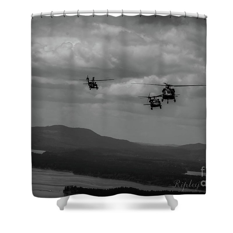 Shower Curtain featuring the photograph Playing In The Clouds II by Shawn Ripley