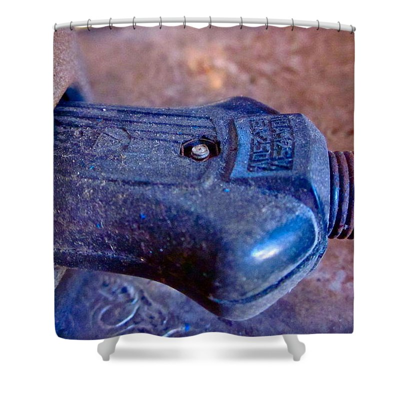 Photograph Of Plug Shower Curtain featuring the photograph Plugged In by Gwyn Newcombe