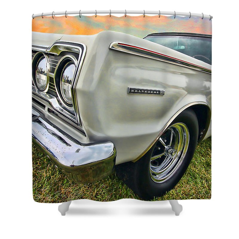 1967 Shower Curtain featuring the photograph Plymouth Belvedere II by Gordon Dean II